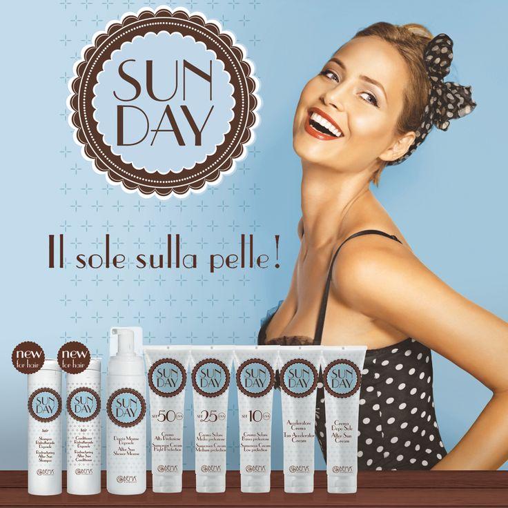 Linea solare Sun Day, cosmetici 100% eco-friendly! Adesso con i nuovi prodotti Shampoo e Conditioner!