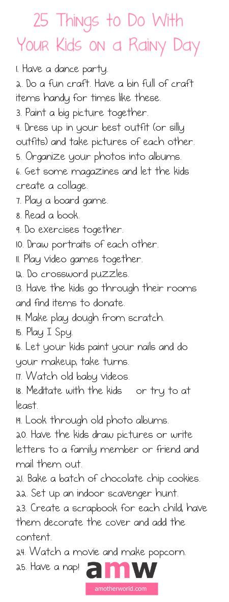 Ideas to keep your kids entertained and your house from becoming a disaster on rainy days!