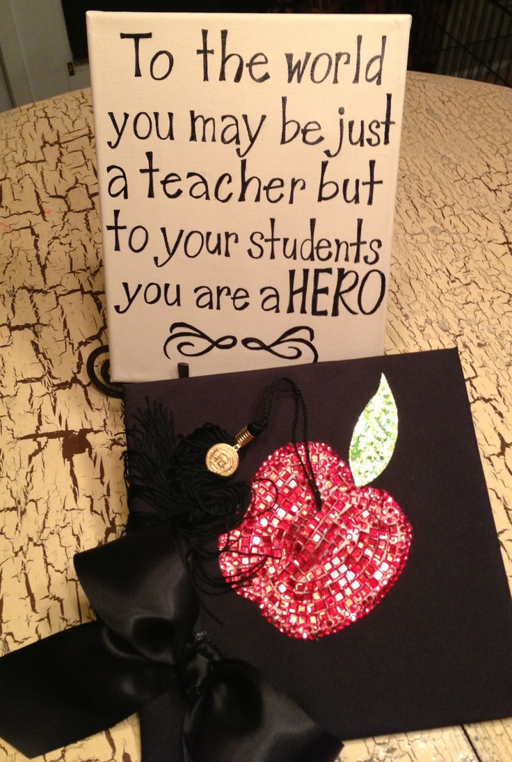 Decorating graduation cap ideas for teachers - Find This Pin And More On Graduation Ready