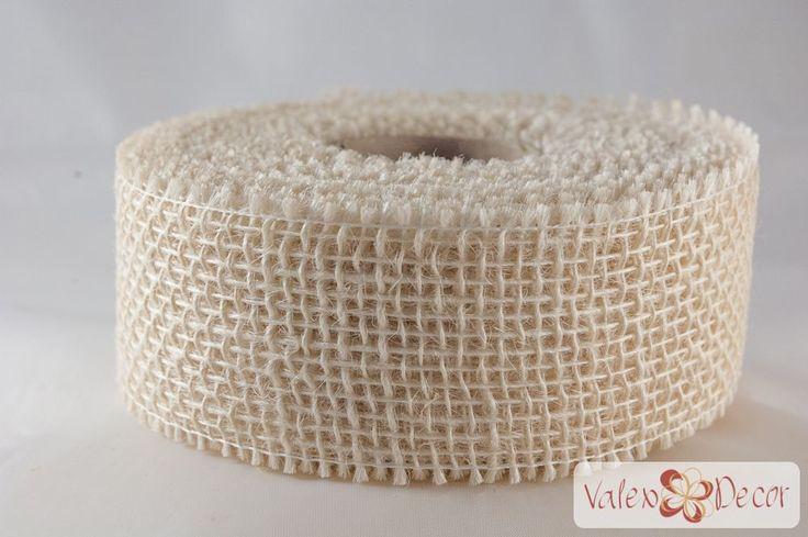 Juta szalag - Fehér - Valex Decor Kft. | Virágkötészeti kellékek és dekorációk webáruháza