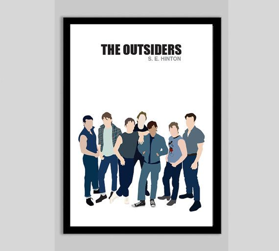 The Outsiders  Movie Poster Minimalist Wall Poster by POSTERED, $18.00