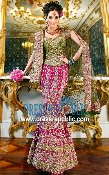 Lime N Pink Rico Product Code DR1211 By Dressrepublic Indian Bridal LehengaIndian