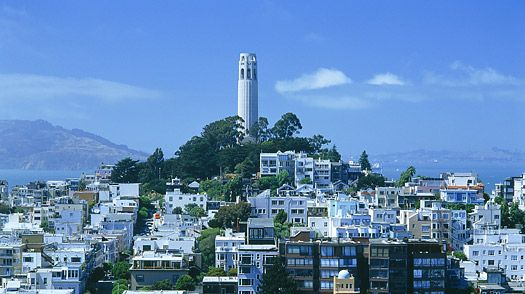 Coit Tower and Telegraph Hill.  Combine with Fisherman's Wharf: Towers, Favourite Places, Sf Coit Tower Jpg 525 294, Favourite Things, 10 Things, Bay Area