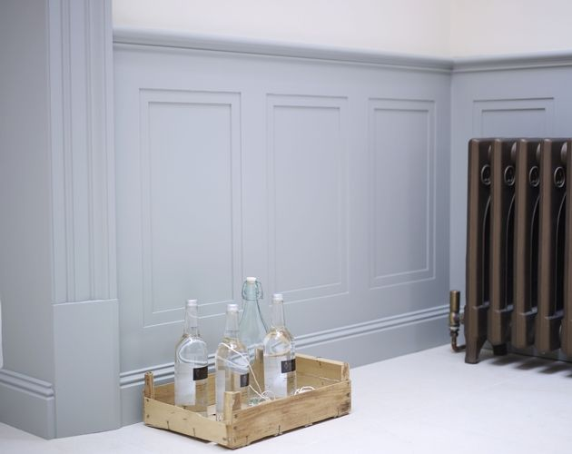 Wall pannelling, love this in duck egg blue for the 1st and 2nd floor hallway.