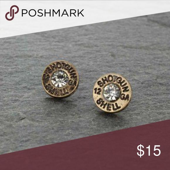 RHINESTONE SHOTGUN SHELL BULLET STUD EARRINGS 🌵Hey boho babes! Welcome to Cowboys & Angels🌵 Based in Southern California  I ship 1-3 business days. I try to ship daily but I sell tons of orders on our website! I am passionate about my boutique and can provide measurements, etc upon request 🚫 I do NOT accept offers. 🚫 Follow us on social media! I sometimes sell out before posting on posh 😩  Link in bio 🌵😘 Jewelry Earrings
