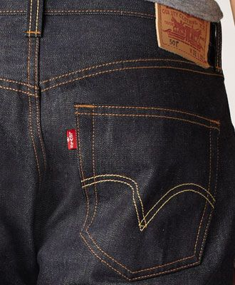 Raw and dark. Button fly. Suitable for office when appropriate or at night in the city. At $178, a splurge. But these are great originals/Wash inside -out, of course.501® Original Fit Made in the USA Jeans - Raw - Levis - levi.com