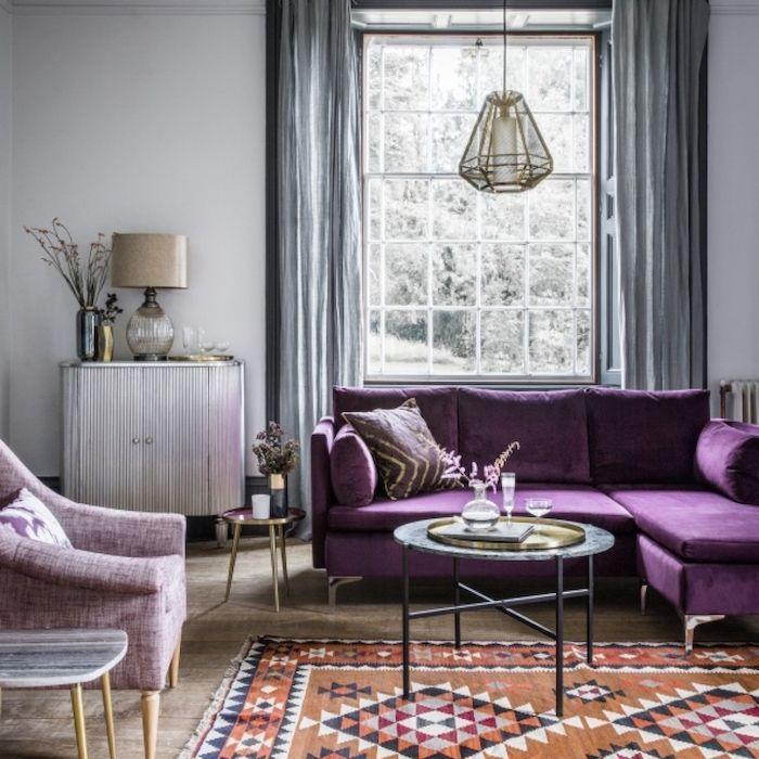 Lila Oder Violett Welche Farbe Passt Zu Grau Zimmergestaltungsidee