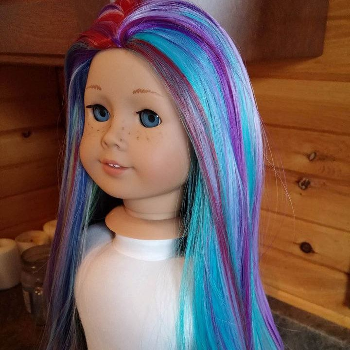 Custom American girl doll Princess wig 18 size by ZazouCustomDolls