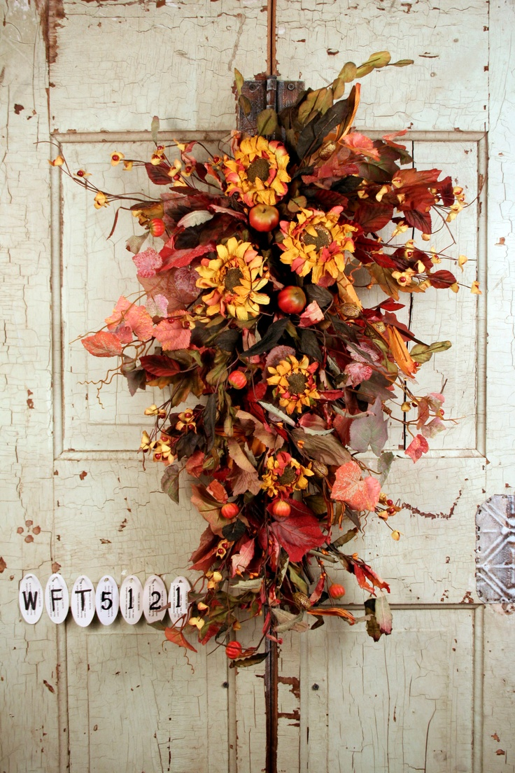 198 Best Fall Swags Images On Pinterest Fall Wreaths