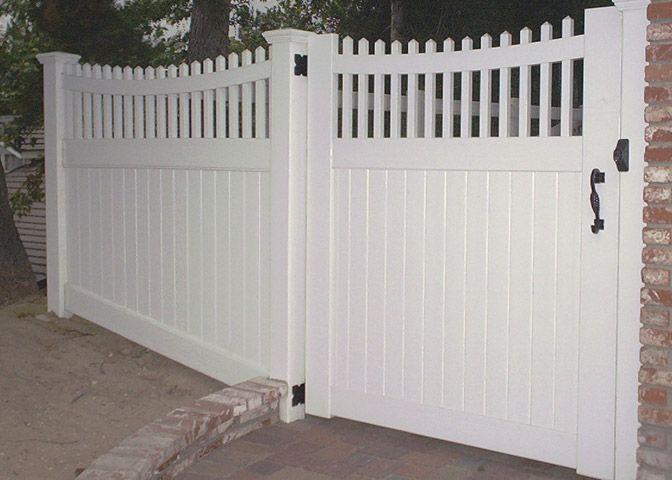white swing security driveway gates   Aladdin   Garage Doors   Gates   Fence   Railing   818-399-4676