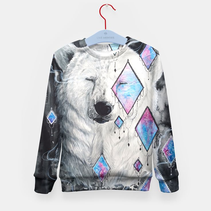the beauty in me-polar bear Kid's Sweater, Live Heroes
