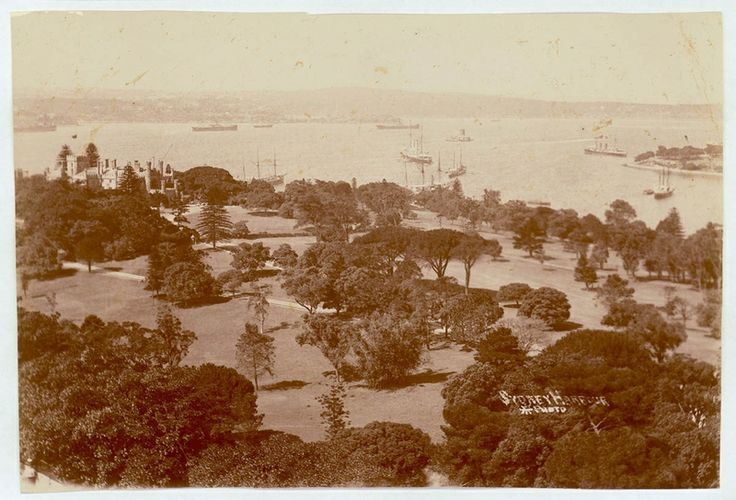 Sydney Harbour [including Botanical Gardens, Government House and Fort Denison], 1900-1910. PXE 711 / 29. http://acmssearch.sl.nsw.gov.au/search/itemDetailPaged.cgi?itemID=413155