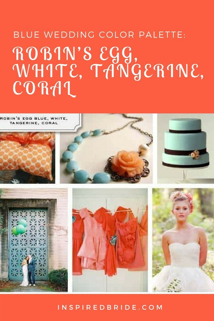 Certainly more modern than traditional, thisblue  weddingcolor palette provides a fun and colorful setting for  any late spring orsummer  wedding