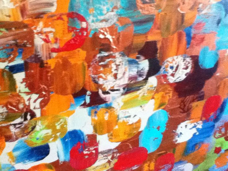 Beautiful colourful abstract acrylic on canvas.