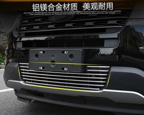 58.95$  Watch here - http://alim6x.worldwells.pw/go.php?t=32754184447 -  Front Bottom Grille Grill Molding Cover Decoration Accessories For Ford Explorer 2011 2012 2013 2014 1pcs
