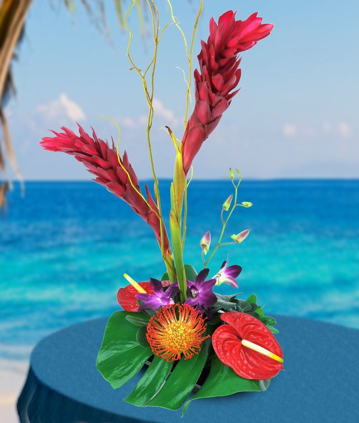 Would be cool centerpiece for tropical wedding!
