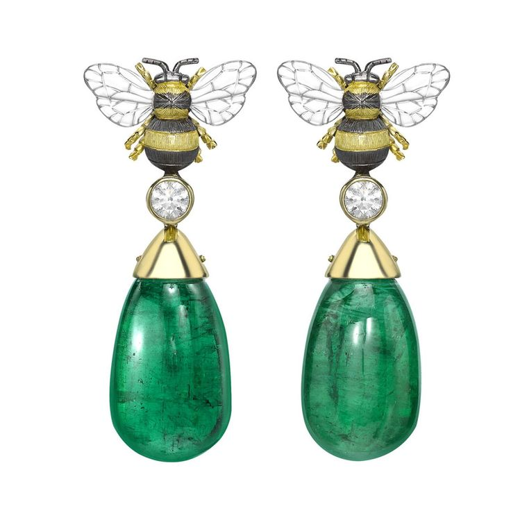 Theo Fennell and Gemfields have teamed up to create a suite of bee-inspired jewels set with three one-of-a-kind ethically sourced emeralds.