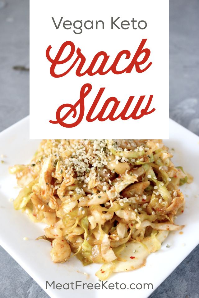 Vegan Keto Crack Slaw Recipe   Meat Free Keto - A vegetarian version of the keto classic, this vegan crack slaw is easy to make, gluten free and delicious. Just another way to make vegan low carb easy.