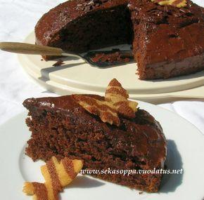 Suklaakakku / piirakka Black Bomb (munaton ja maidoton)