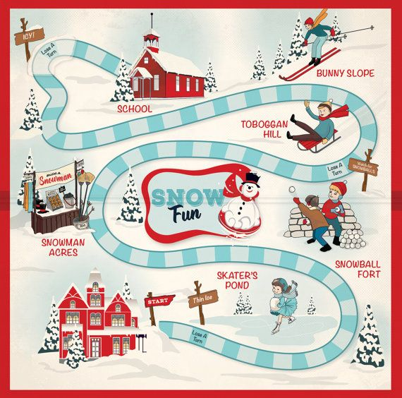 """Carta Bella Snow Fun Collection Scrapbook Snow Game 12"""" x 12"""" Double Sided Cardstock Paper"""