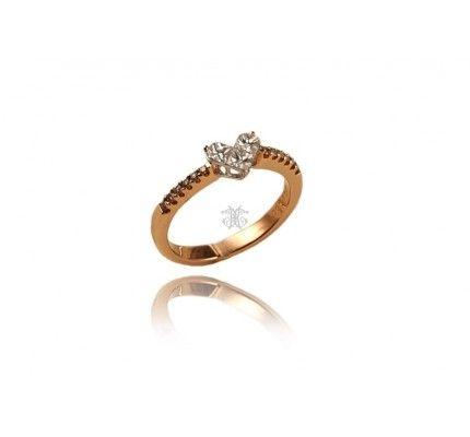 Δαχτυλίδι καρδιά λευκόχρυσο και κόκκινο χρυσό με διαμάντι #ring #heart #whitegold #red_gold #diamond #woman #wedding #proposal #love