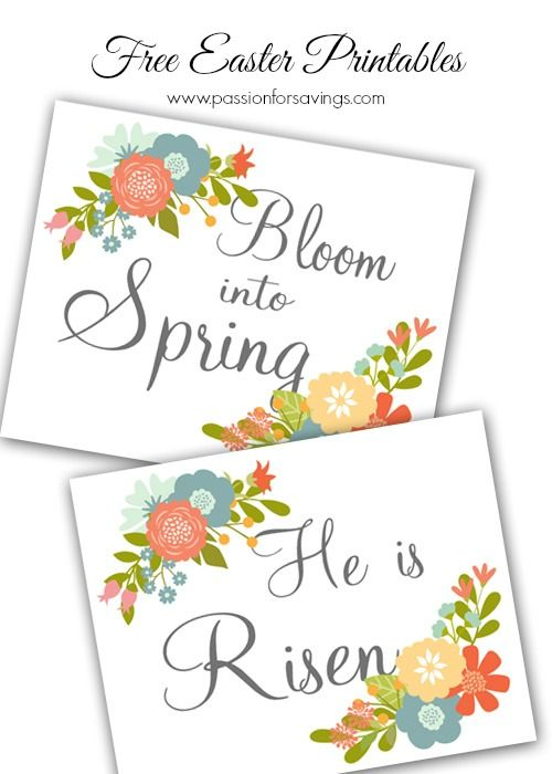 Easy Easter Decorations  Free Easter Printable