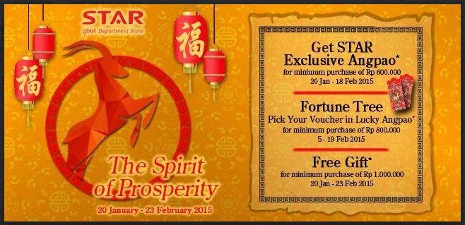 The Spirit of Presperity di Star Department Store, 20 Januari – 23 Februari 2015