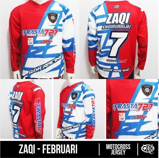 Motocross Jersey Azqi - Februari Sublimation Print  By. Qita Design