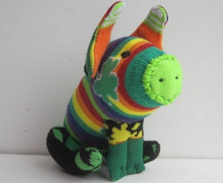 JAMESON: a sock toy piglet that is all Irish. A by garishrubbish