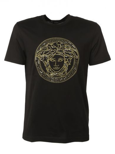 VERSACE Versace Classic Medusa Sequin T-shirt. #versace #cloth #topwear
