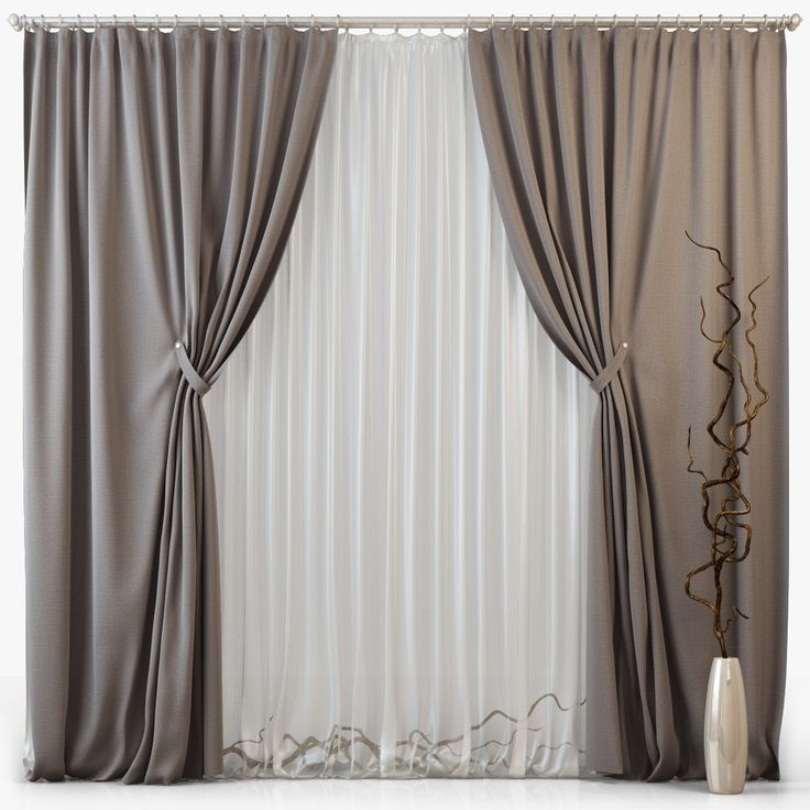 3D Model Of Tull Curtains M08  3D Model   in 2019