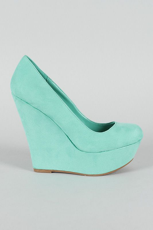 """I like the on in Blush! """"Breckelle Cilo-11 Round Toe Platform Wedge $27.90"""""""