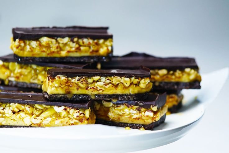 Just like their namesake, these gooey treats are packed with peanuts but use rice malt syrup for a healthier sweet hit.