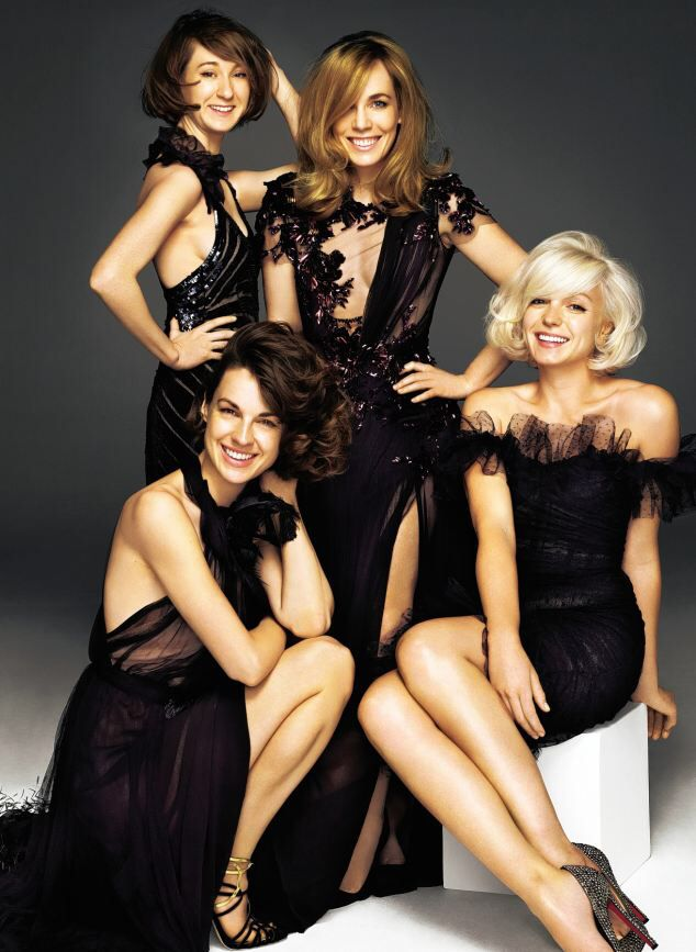 Jessica Raine, Helen George, Laura Main and Bryony Hannah in the Glamour Magazine photoshoot in December 2012