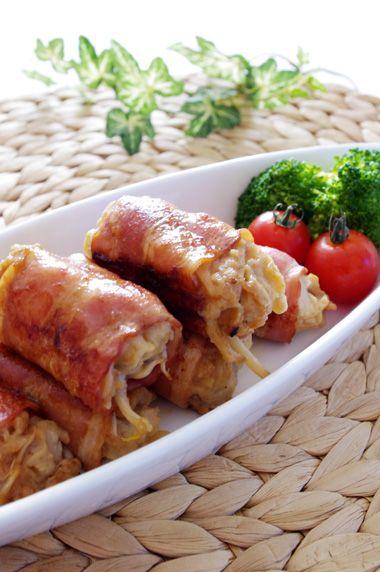 里芋ともやしのベーコン巻き | 美肌レシピ