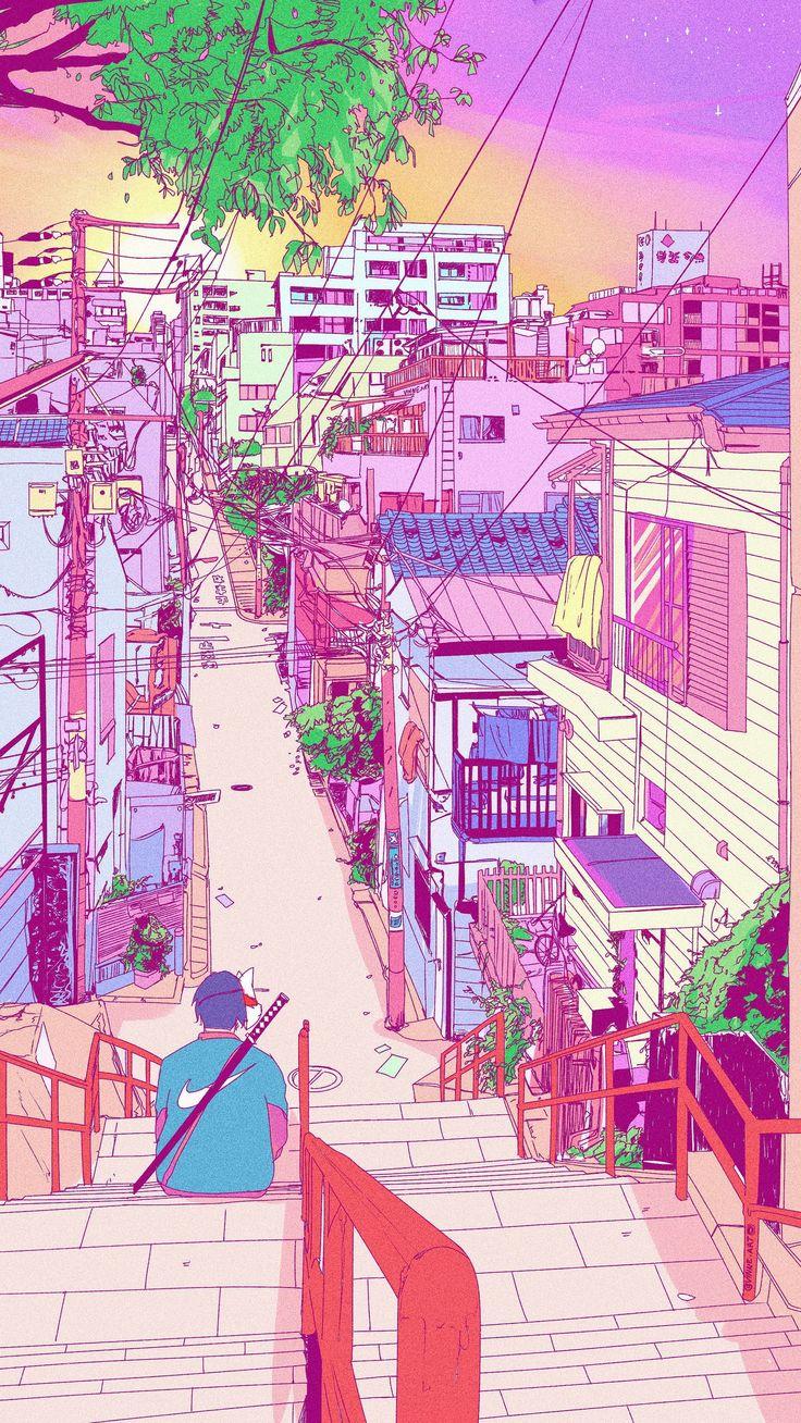 Aesthetic Anime Background Video