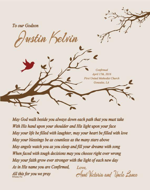 Confirmation Gift for Boy-Godson Grandson by foxcreationsonline