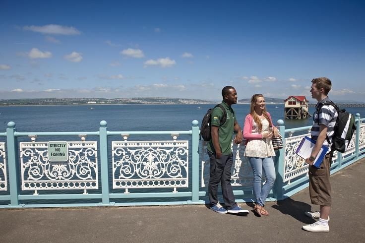 Swansea University across the Bay (from Mumbles Pier)