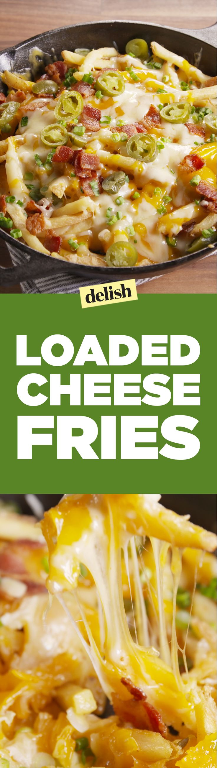 Loaded Cheese Fries are basically nachos, but better. Get the recipe on Delish.com.
