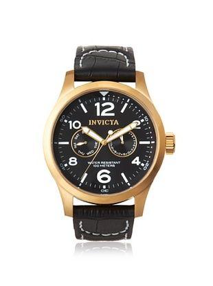 Invicta Men's 10491 Specialty Black Genuine Calf Leather Watch