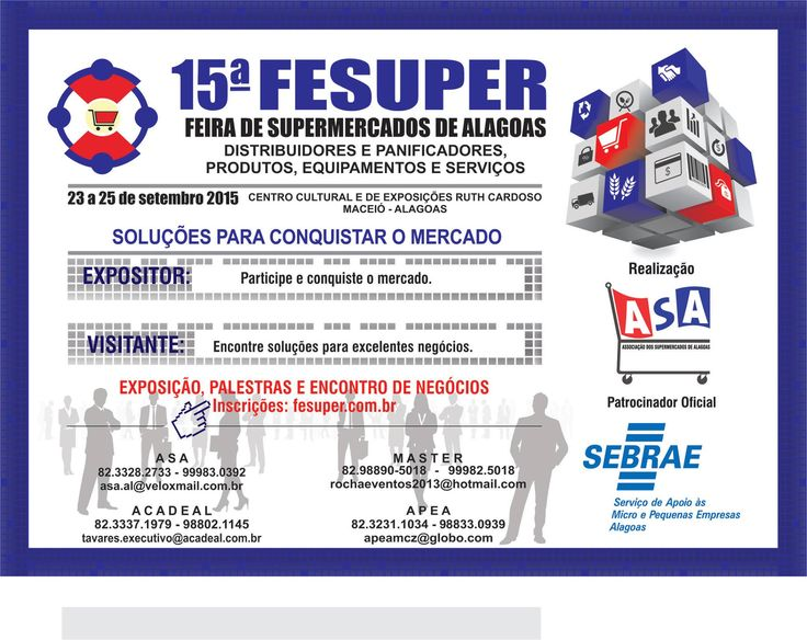 Começa hoje dia 23 de outubro a FESUPER 2015 em Alagoas