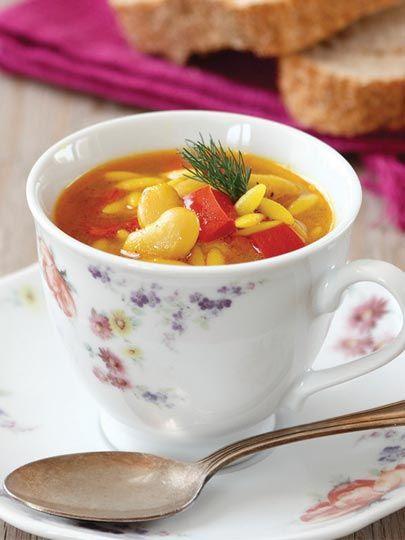 Fasulyeli ve zerdeçallı arpa şehriye çorba Tarifi - Türk Mutfağı Yemekleri - Yemek Tarifleri
