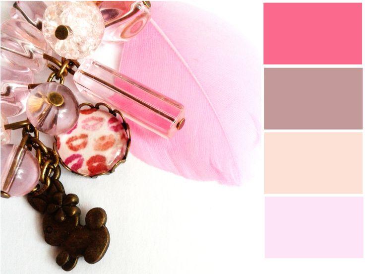 Pink színek a Valentin nyakláncomról