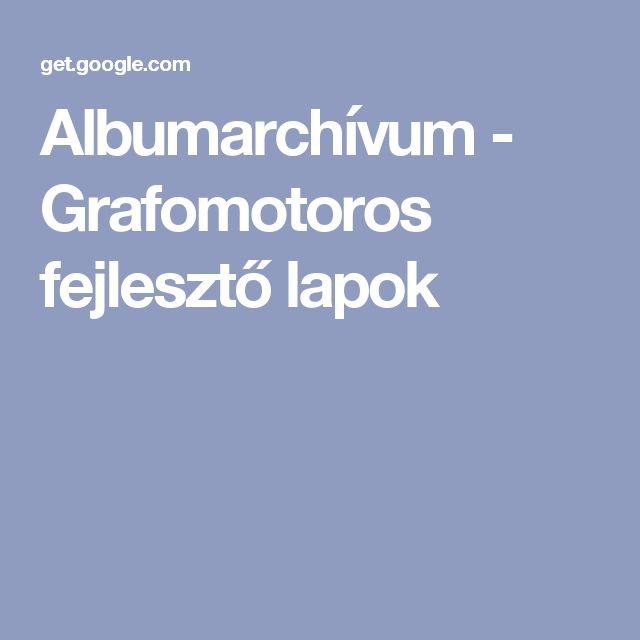 Albumarchívum - Grafomotoros fejlesztő lapok