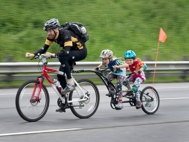 Cool Dad by Peter J. Thompson/National Post #Photography #Dad #Family #Biking