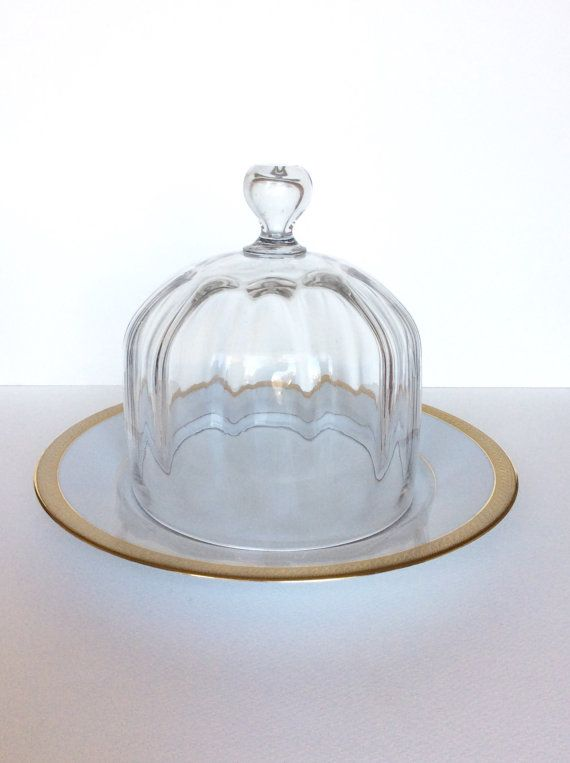 Vintage glass dome. French glass food cover. by SouthofFranceFinds