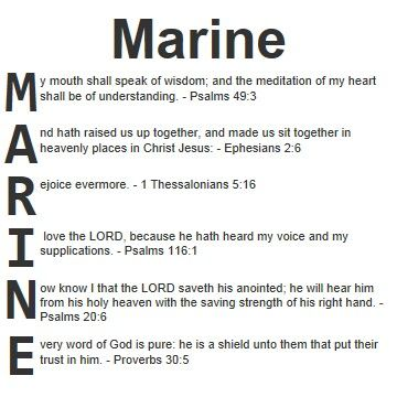 Marine & Quotes from the Bible