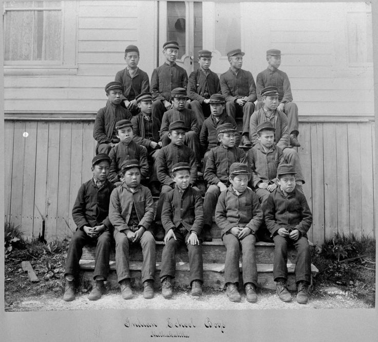 Students pose for photo outside Metlakatla Indian Residential School in Metlakatla, B.C. Commission. HANDOUT/Truth and Reconciliation