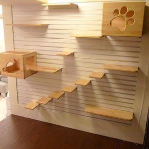 Gatos design and cat shelves on pinterest - Juegos de decoracion de casas grandes ...