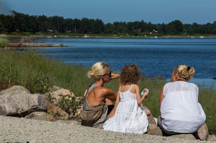 Smuk udsigt over Skansehagebugten ved Rørvig havn